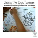 Adding Two Digit Numbers Snowman Number Spin Addition Recording the Number