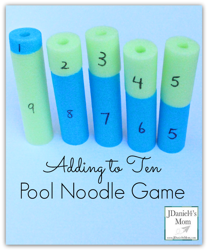 Adding to Ten Pool Noodle Game