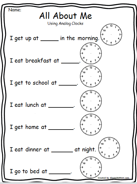 All About Me - Important Time During My Day