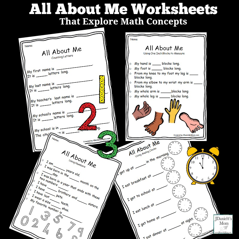 photo about All About Me Printable Worksheet titled All Over Me Worksheets That Discover Math Thoughts