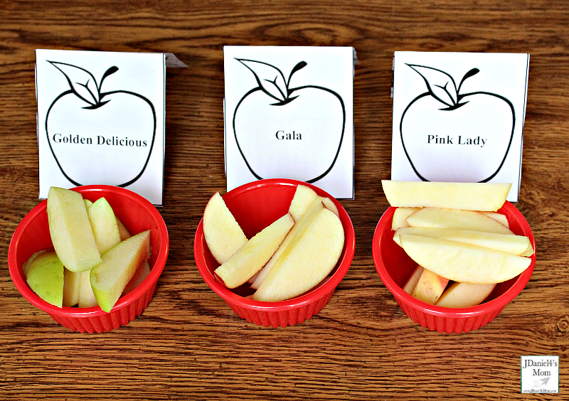 Apple Taste Test with Editable Printables and Place Cards