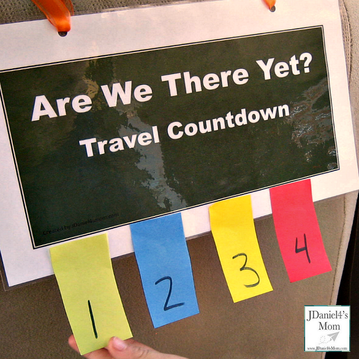 Are We There Yet? Travel Countdown Printable
