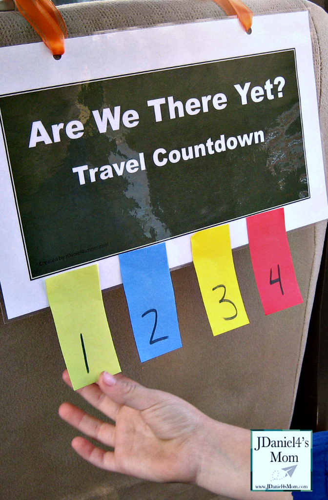 Are We There Yet? Travel Countdown Printable for Kids