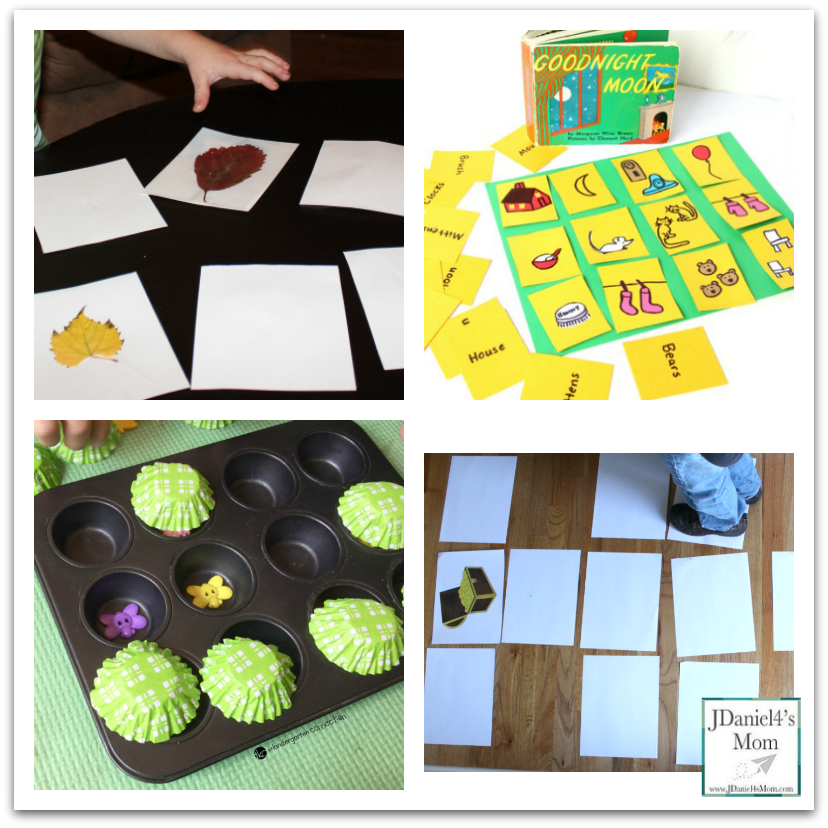 Awesome Memory Games and Activities for Kids- Homemade Activities