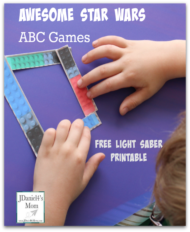 Awesome Star Wars ABC Games with Free Light Saber Printable