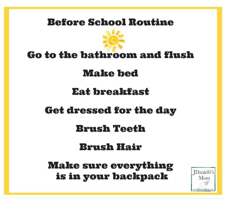 Back to School-Chore Charts for Before and After School