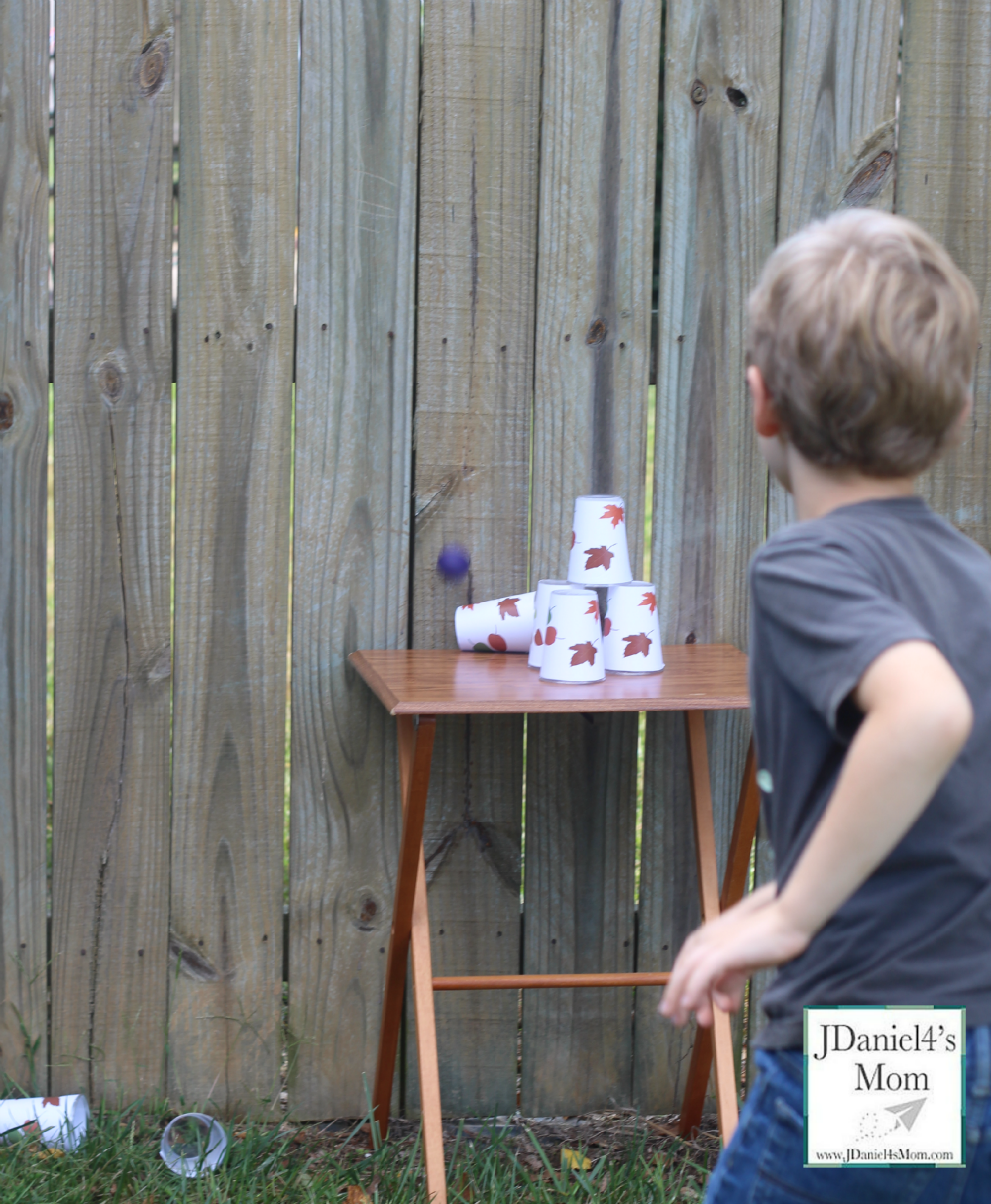 Backyard Carnival Games- Falling Leaves Cups