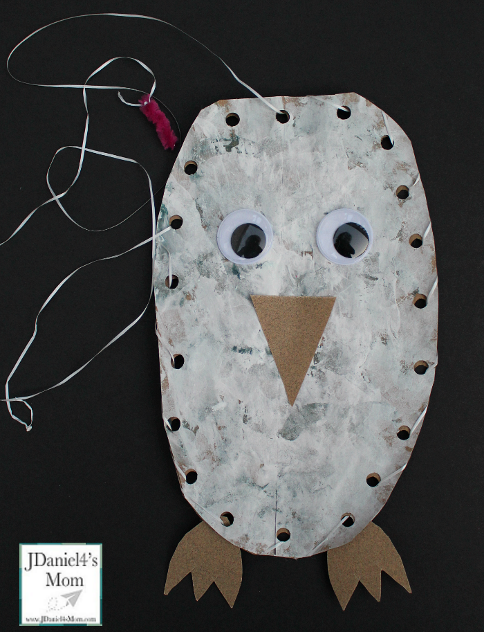 Owl Craft Based on the Book Owl Babies- It is fun to paint and create this fun owl craft.