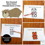 Bear Dream About Colors Printable Book - This printable was created to explore after reading the book Bear Snores On. Children at school or students at school will enjoy this book to color.