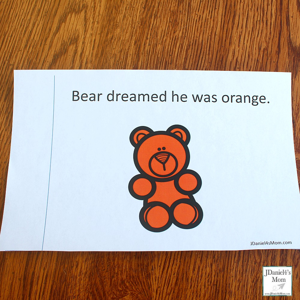 Bear Dream About Colors Printable Book - This printable was created to explore after reading the book Bear Snores On. Children at school or students at school will enjoy this book to color. There is a you color version and a bear is already colored version. This is what it looks like.