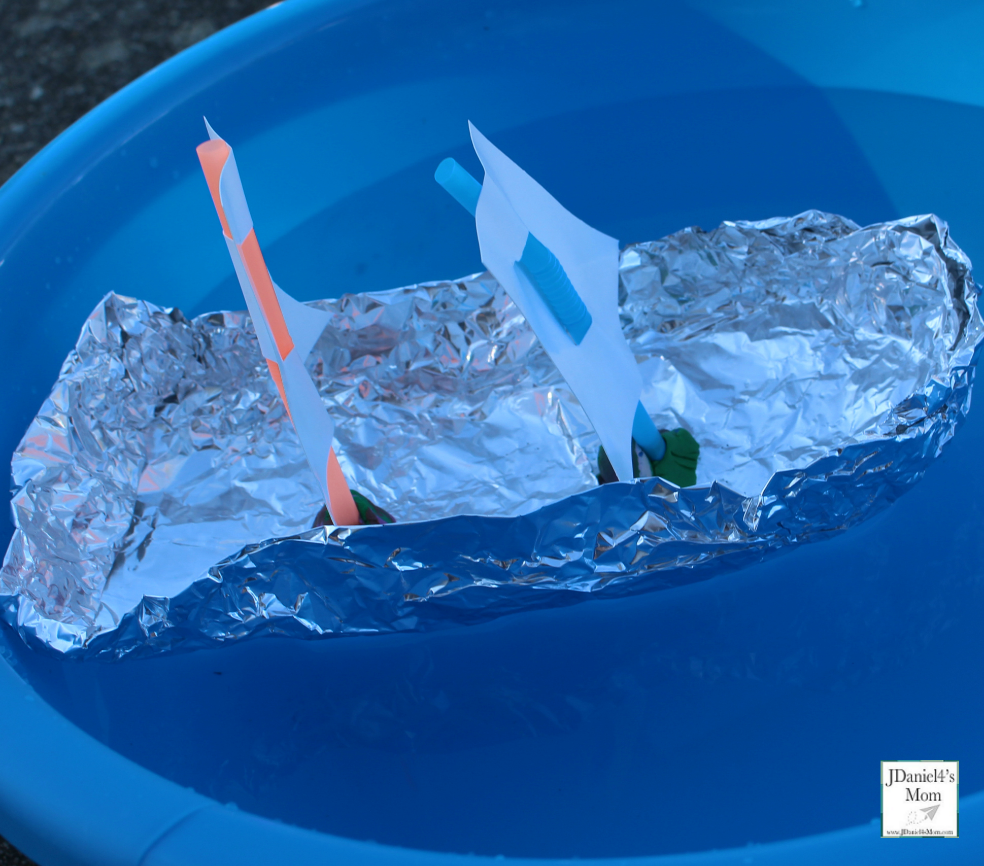 Build the Pilgrims a Tin Foil Boat STEM Challenge - Boat Close Up