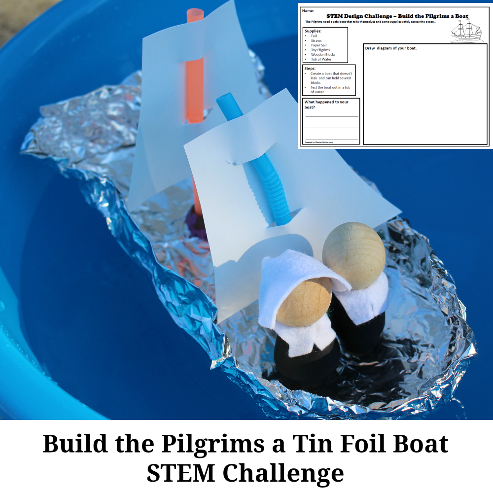 Build the Pilgrims a Tin Foil Boat STEM Challenge