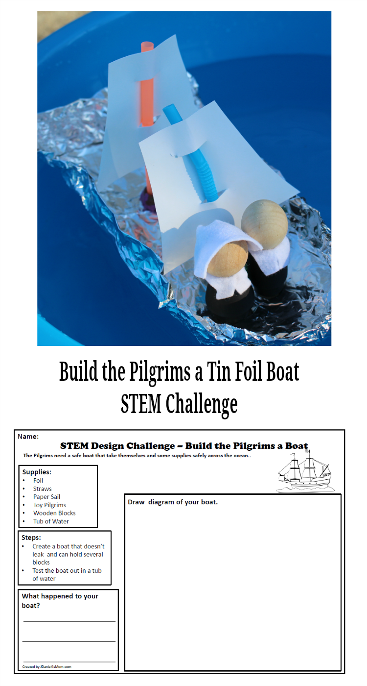 Build The Pilgrims A Boat Stem Challenge