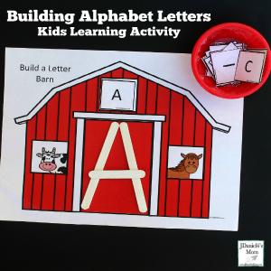 Building Alphabet Letters Kids Learning Activity