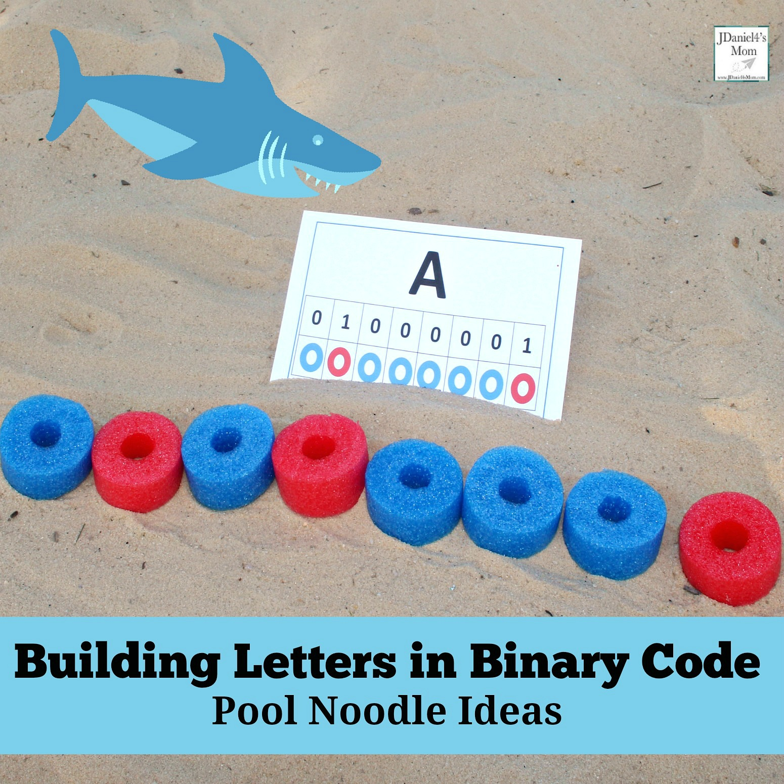 Building Letters in Binary Code