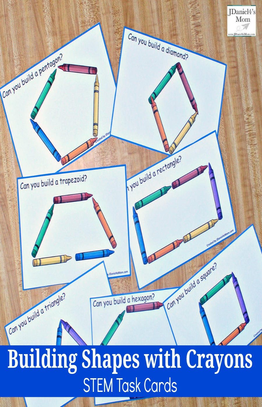image about Free Printable Task Cards titled Creating Designs with Crayons STEM Process Playing cards - JDaniel4s Mother