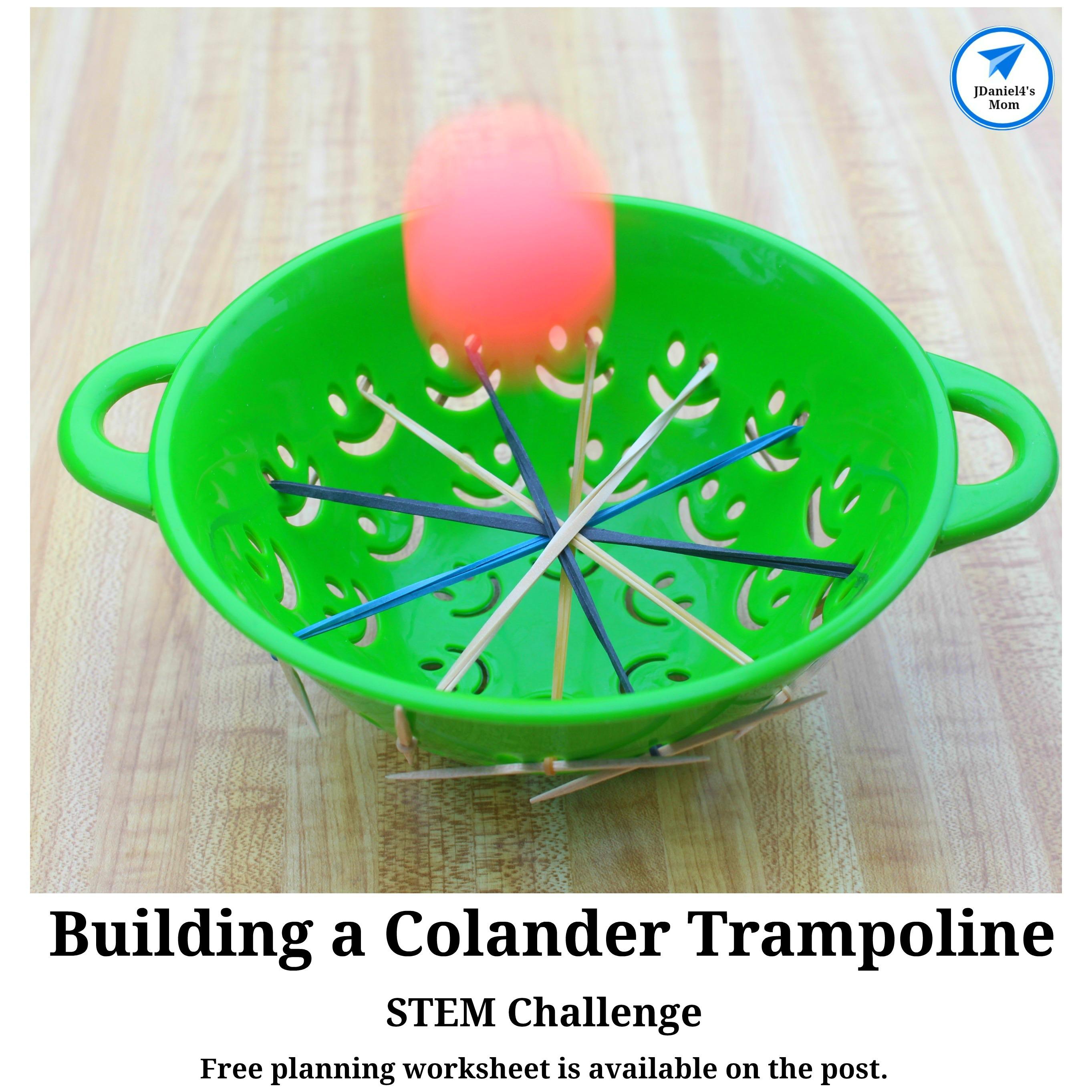 STEM Challenge- Building a Colander Trampoline