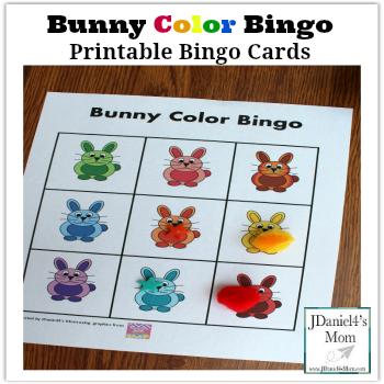 printable bingo cards bunny color bingo. Black Bedroom Furniture Sets. Home Design Ideas