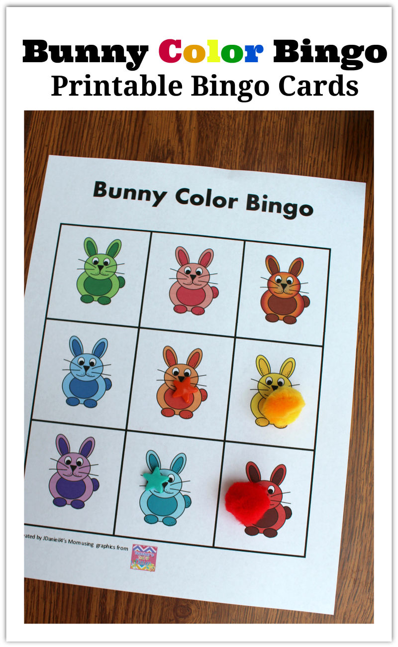 Bunny Color Bingo Printable Bingo Cards - I have come up with a number ways for your children to use this fun set of cards with your kids. I bet you can come up with even more games to play.