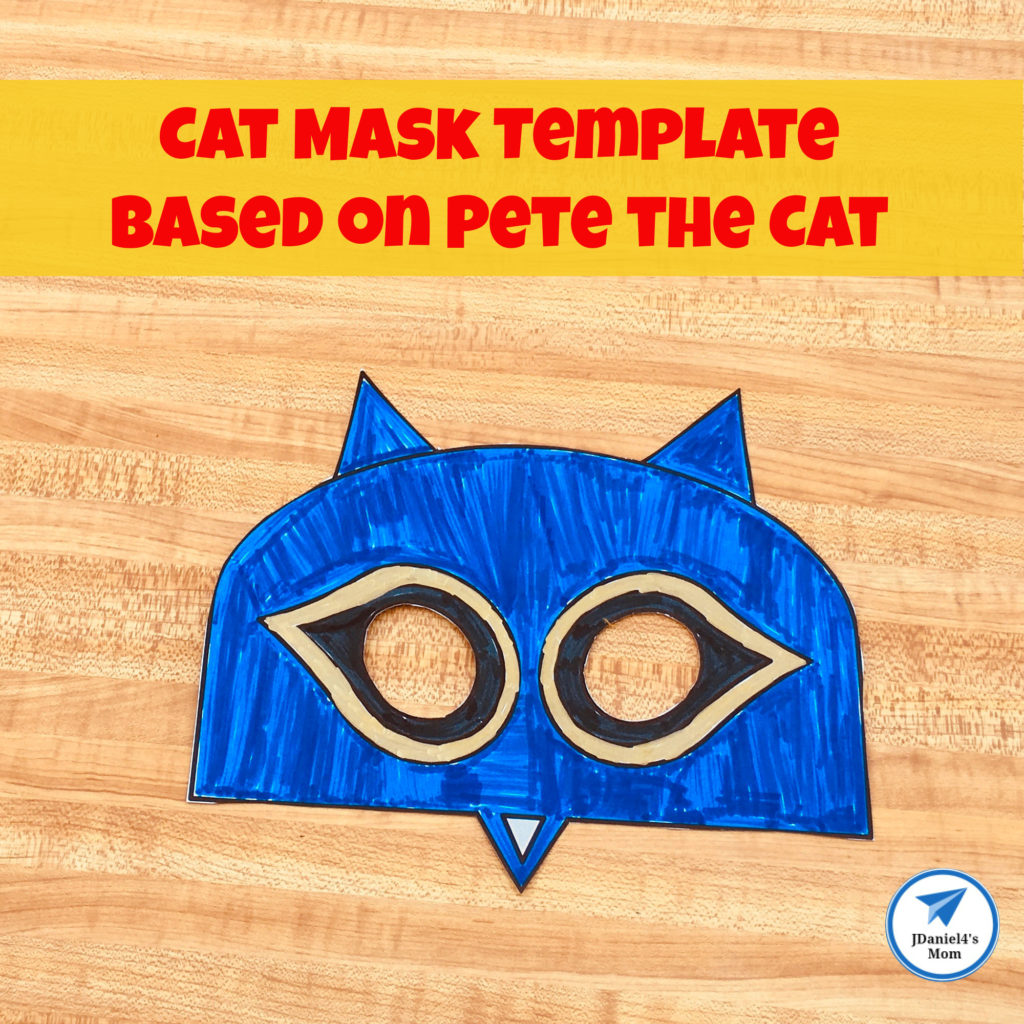 Free Printable Cat Mask Template Based on Pete the Cat