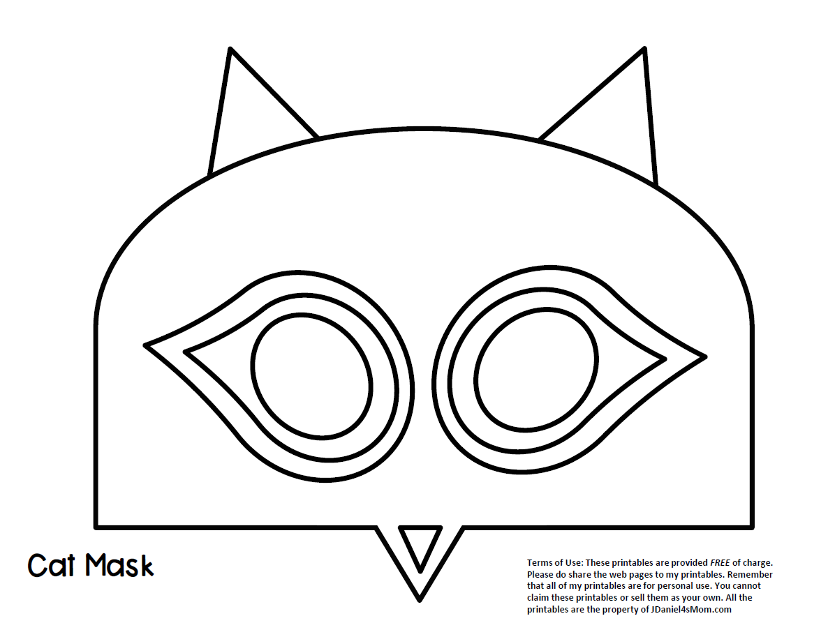 Cat Mask Template Based on Pete the Cat