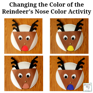 Changing the Color of the Reindeer's Nose Color Activity