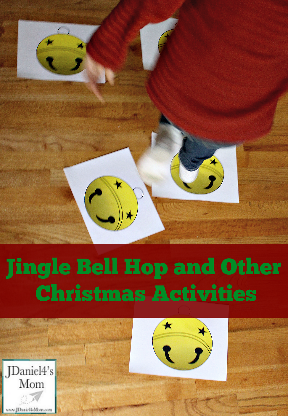 Christmas Activities - Jingle Bell Hop Printable Cards and other Activities for Kids to Play