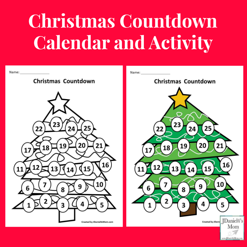 Christmas Countdown Calendar and Activity