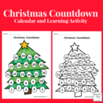 Christmas Countdown Calendar and Activity Set