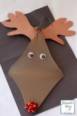 Christmas Crafts For Kids Hanger Reindeer