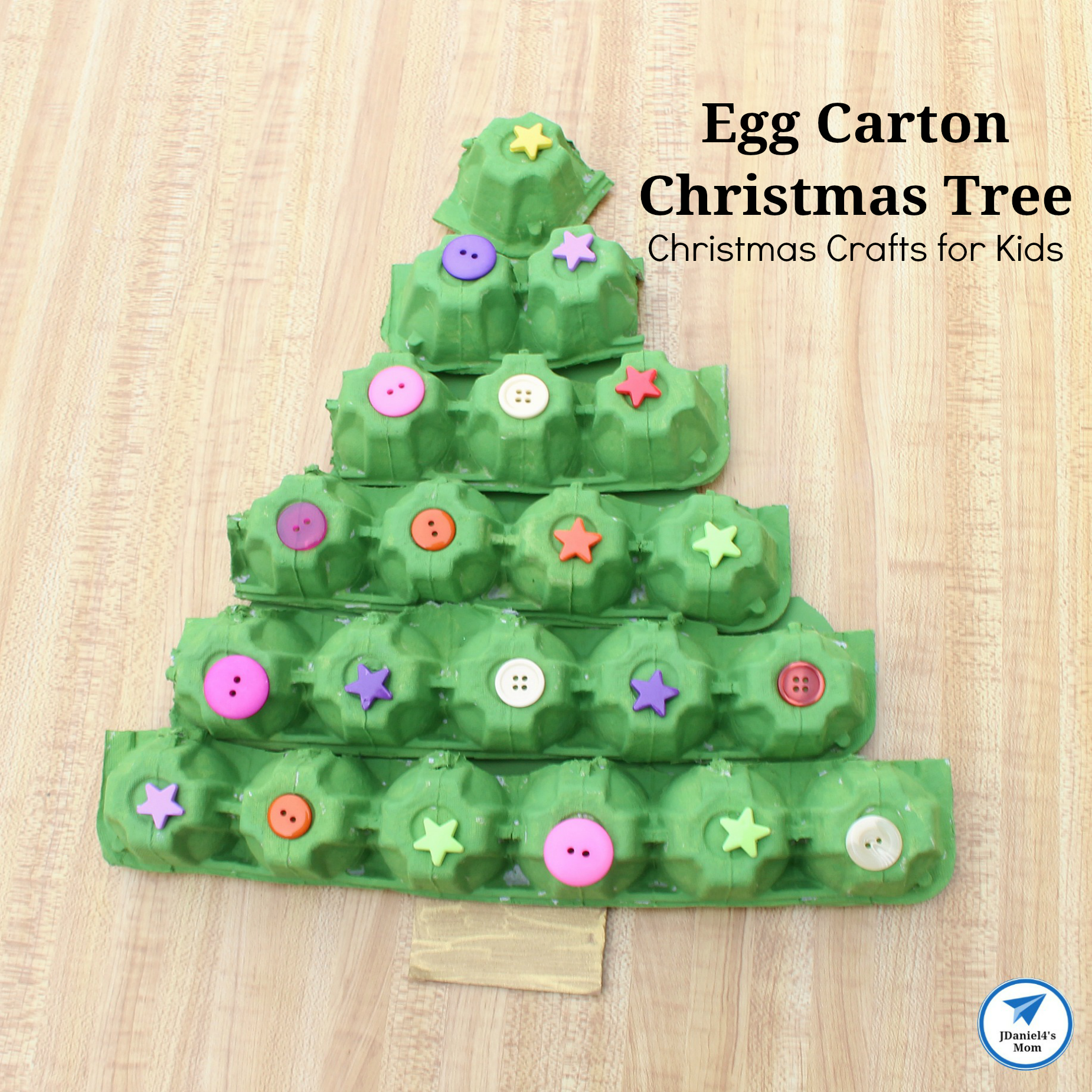Christmas Crafts For Kids.Christmas Crafts For Kids Egg Carton Christmas Tree