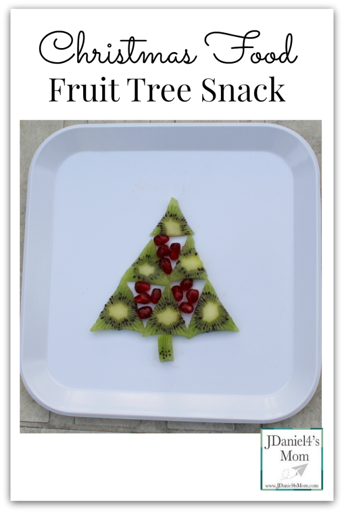 Christmas Food- Fruit Tree Snack What fun it is to create and eat a tree filled with yummy winter fruits cut outs.