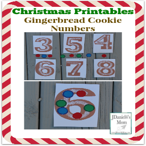 Christmas Printables- Gingerbread Cookie Numbers