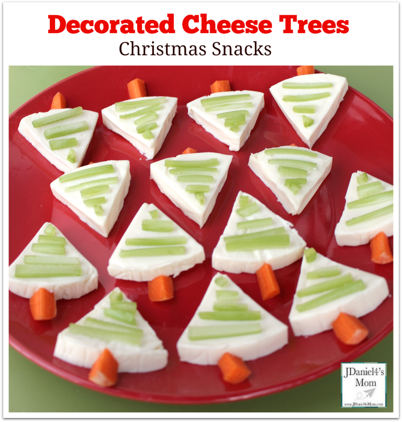 Christmas Snacks- Decorated Cheese Trees