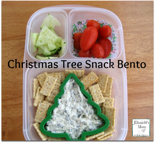 Snack for Kids- Christmas Tree Themed Bento