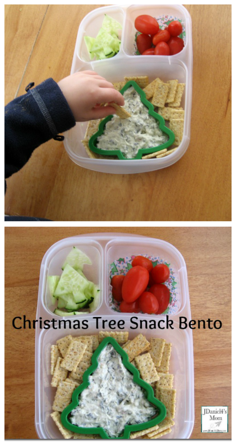 Snack for Kids- Christmas Tree Themed Bento Idea