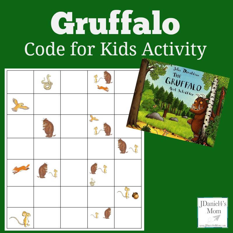 Code for Kids Activity Gruffalo- This printable can be used for story retelling and building a simple algorithm.
