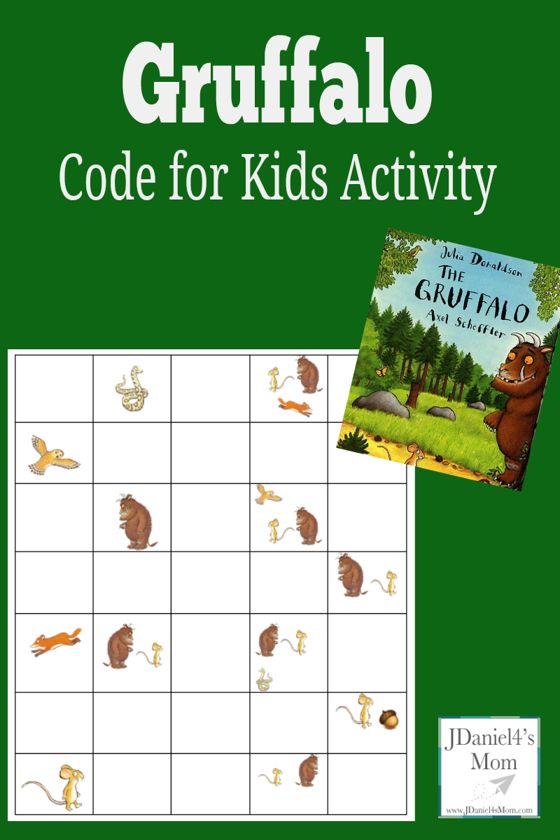 Code for Kids Activity - Gruffalo Coding and Retelling Printable