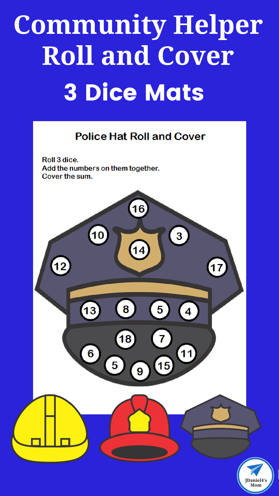 Community Helper Roll and Cover 2 Dice Mats