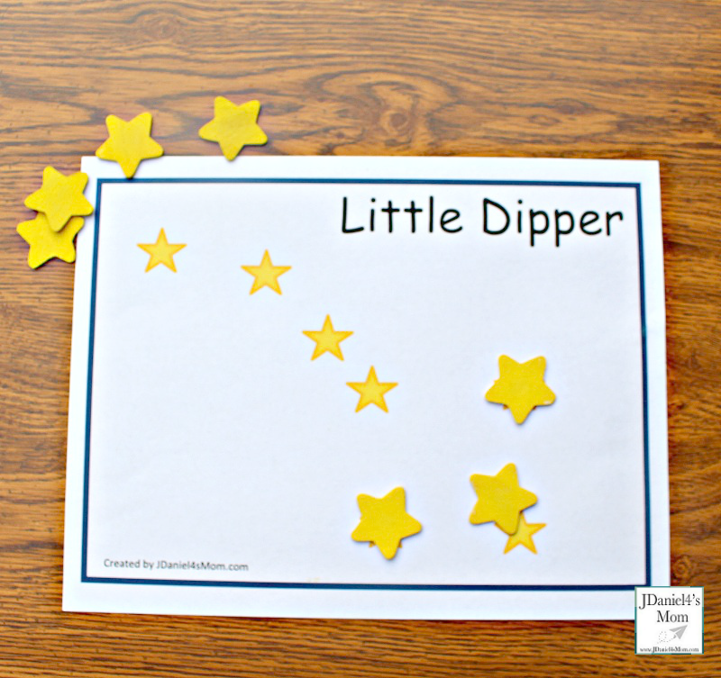 Constellations for Kids - Printable Constellation Mats- Little Dipper