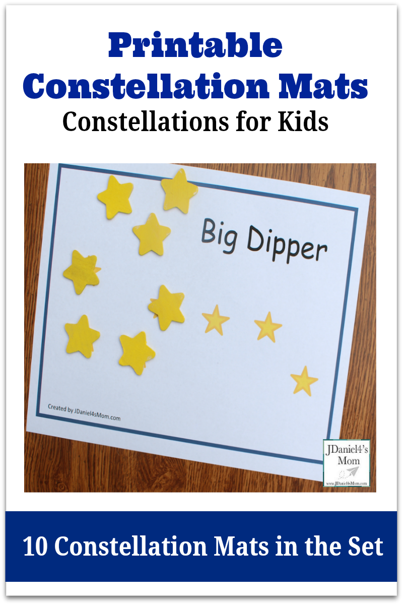 Constellations for kids printable constellation mats space stem shooting star bottle publicscrutiny Image collections