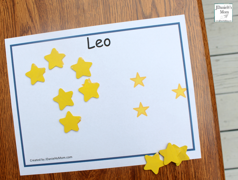 Constellations for Kids - Printable Constellation Mats leo