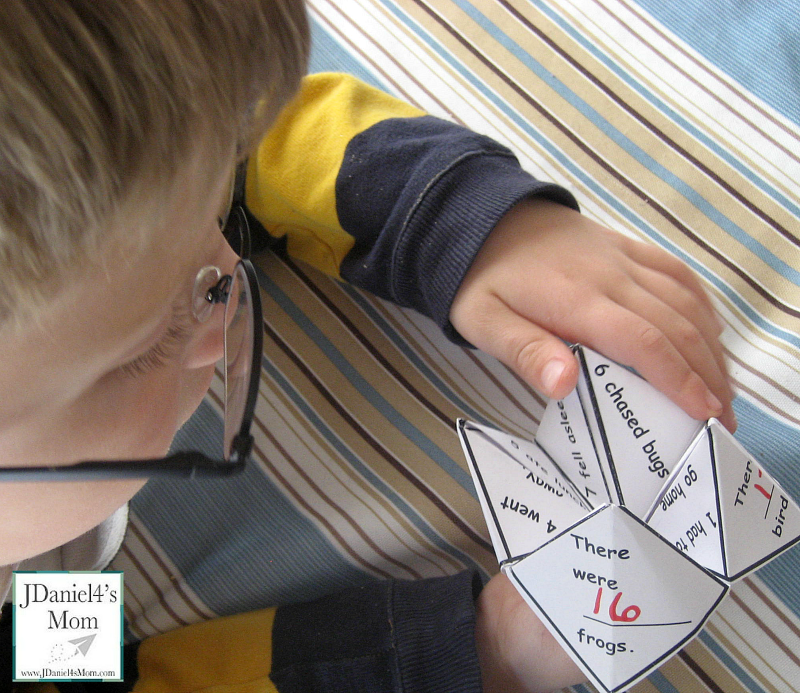 Cool Math Games- Word Problem Fortune Teller