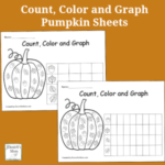Count, Color and Graph Pumpkin Sheets
