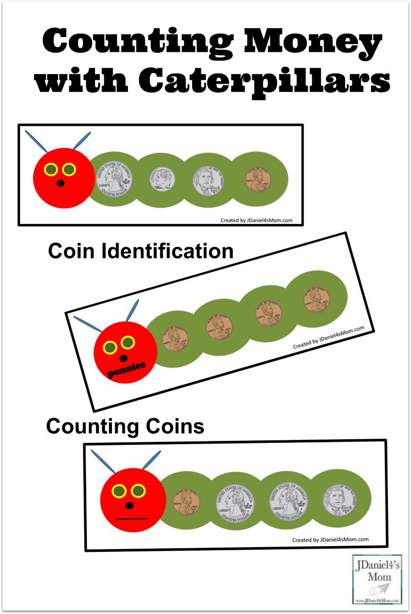 Counting Money with Caterpillars - This set of mats explores coin identification, counting on, and sorting.