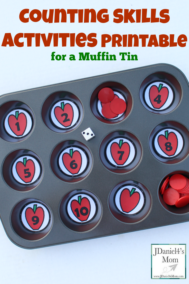 Ten Apples Up on Top Counting Skills Activities Printable and Games- These are fun games that work on number recognition and counting