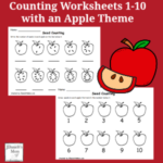 Counting Worksheets 1-10 with an Apple Theme - There are three printables in this set.