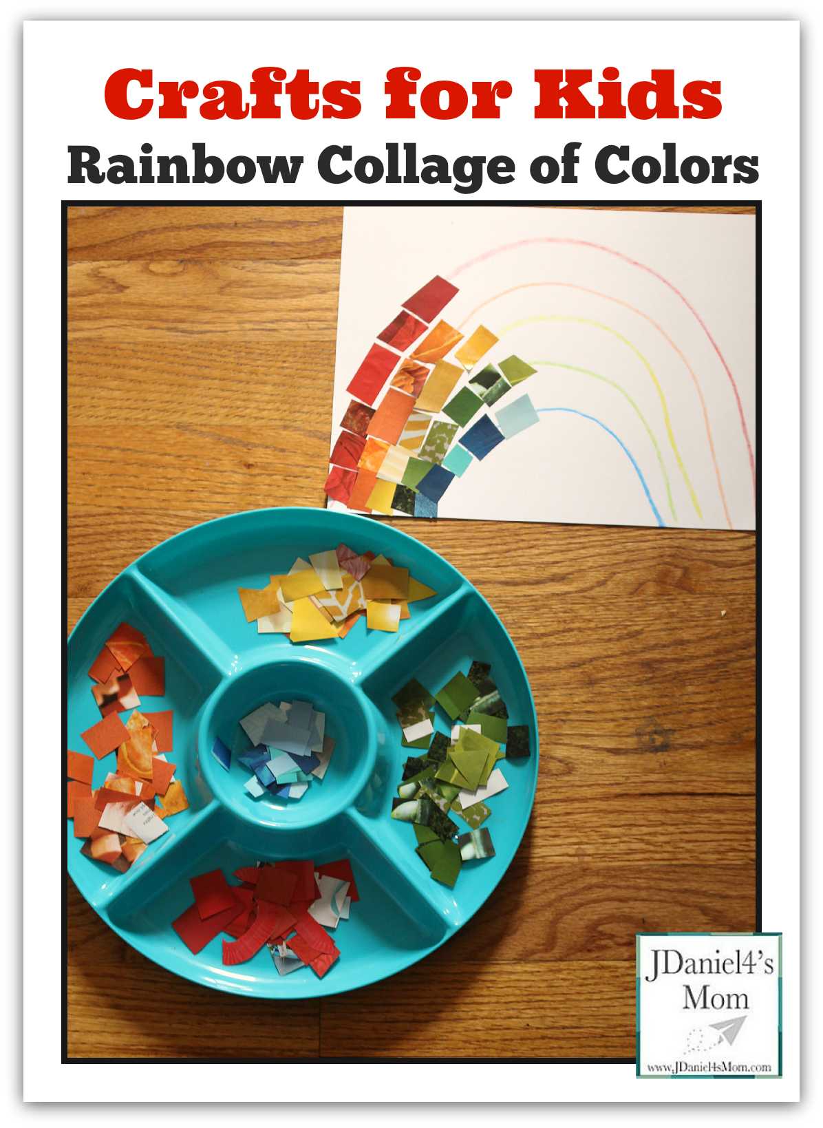 Crafts for Kids-Rainbow Collage of Colors