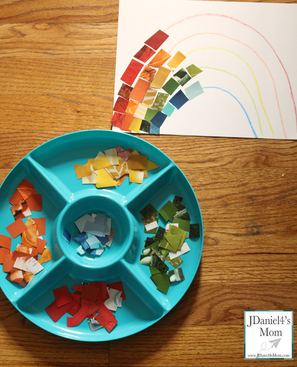 Crafts for Kids- Rainbow Collage of Colors