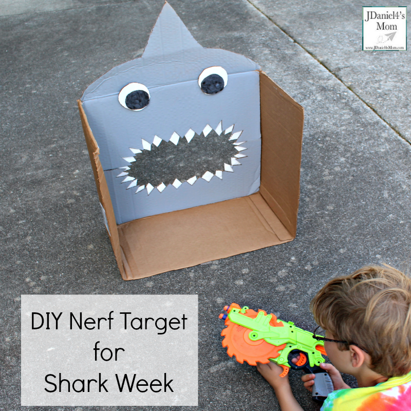 DIY Nerf Target for Shark Week - Shooting the Bullet While Laying Prone on the Ground.